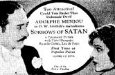 'Sorrows of Satan' film announcement