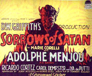 'Sorrows of Satan' filmposter