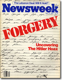 'Newsweek' 16 May 1983 ''Uncovering the Hitler Hoax''