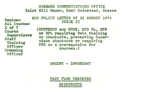 Scanning headtitles of HCO PL 31 Aug 74 II